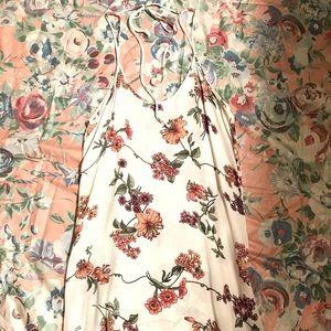 Brandy melville white lily floral belle dress